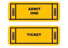 εισιτήρια δύο Στοκ Εικόνα