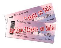 Εισιτήριο αερογραμμών στην πώληση Στοκ εικόνες με δικαίωμα ελεύθερης χρήσης
