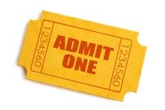 εισιτήριο αποδοχής Στοκ Φωτογραφίες