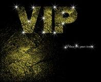 Εισιτήριο ασφαλίστρου Κάρτα πρόσκλησης με την κατασκευασμένη εγγραφή χρυσού και VIP τοποθετήστε το κείμενο επίσης corel σύρετε το ελεύθερη απεικόνιση δικαιώματος