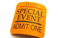 εισιτήριο γεγονότος Στοκ φωτογραφία με δικαίωμα ελεύθερης χρήσης