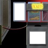 εισιτήριο θεάτρων θαλάμων απεικόνιση αποθεμάτων