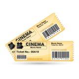 εισιτήριο κινηματογράφω&nu Στοκ φωτογραφίες με δικαίωμα ελεύθερης χρήσης