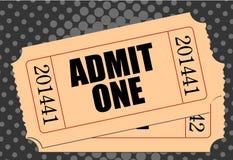 εισιτήριο κινηματογράφω&nu Στοκ Εικόνα