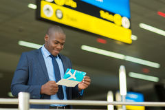 Εισιτήριο πτήσης επιχειρηματιών Στοκ εικόνα με δικαίωμα ελεύθερης χρήσης