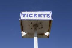 εισιτήριο σημαδιών Στοκ εικόνες με δικαίωμα ελεύθερης χρήσης