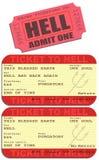 Εισιτήριο στην κόλαση απεικόνιση αποθεμάτων