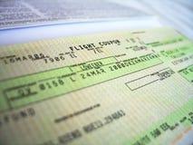 εισιτήριο 2 πτήσης Στοκ φωτογραφία με δικαίωμα ελεύθερης χρήσης