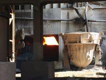 λειώνοντας βιομηχανίες μετάλλων Στοκ Φωτογραφία