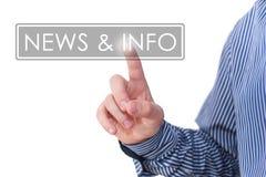 Ειδήσεις και πληροφορίες Στοκ Φωτογραφία