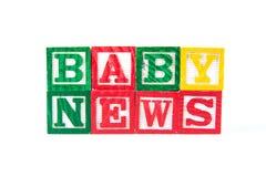 Ειδήσεις μωρών - φραγμοί μωρών αλφάβητου στο λευκό Στοκ φωτογραφία με δικαίωμα ελεύθερης χρήσης