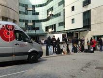 Ειδησεογραφική κάλυψη του Jeremy Clarkson Στοκ φωτογραφίες με δικαίωμα ελεύθερης χρήσης