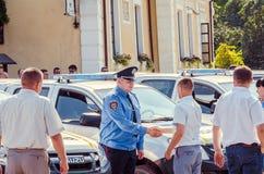 Ειδικά αυτοκίνητα αστυνομικών Volynskaiy δώρων από τους Πολωνούς Στοκ φωτογραφία με δικαίωμα ελεύθερης χρήσης