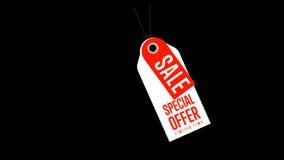 Ειδική ετικέττα πώλησης προσφοράς, σύμβολο έκπτωσης της λιανικής πώλησης απόθεμα βίντεο