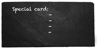 Ειδική κάρτα στην πλάκα Στοκ Φωτογραφία