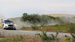 Ειδική δοκιμή συνάθροισης Δούναβη του δέλτα windfarm απόθεμα βίντεο