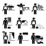 Ειδικευμένες σταδιοδρομίες επαγγελμάτων εργασιών εργασίας Handyman Στοκ Φωτογραφία
