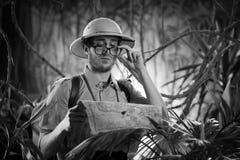 Ειδικός νέος εξερευνητής στη ζούγκλα Στοκ φωτογραφίες με δικαίωμα ελεύθερης χρήσης