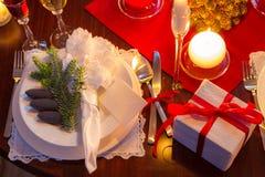 Ειδικό γεύμα για τη Παραμονή Χριστουγέννων στοκ εικόνα