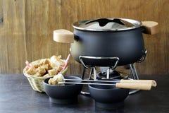 Ειδικό σύνολο εργαλείων για το μαγείρεμα fondue Στοκ Φωτογραφίες