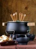 Ειδικό σύνολο εργαλείων για το μαγείρεμα fondue Στοκ Φωτογραφία