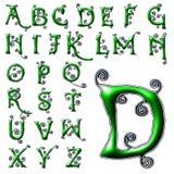 Ειδικό σύνολο σχεδίου αλφάβητου ABC Στοκ φωτογραφίες με δικαίωμα ελεύθερης χρήσης
