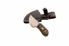 Ειδικό χέρι - το γίνοντα μαχαίρι τεχνών με το χάλυβα Στοκ Φωτογραφία