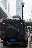Ειδικό όχημα αστυνομίας στο καθήκον Στοκ φωτογραφία με δικαίωμα ελεύθερης χρήσης
