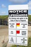 Ειδοποίηση Lifeguards στην παραλία ballybunion Στοκ φωτογραφία με δικαίωμα ελεύθερης χρήσης