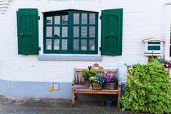 Ειδυλλιακή λεπτομέρεια σπιτιών σε Bedburg ALT-Kaster, Γερμανία Στοκ εικόνες με δικαίωμα ελεύθερης χρήσης