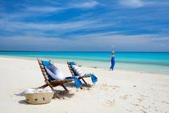 Ειδυλλιακή παραλία στην Αφρική Στοκ Εικόνες