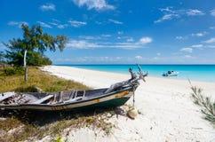Ειδυλλιακή παραλία στις Καραϊβικές Θάλασσες Στοκ Φωτογραφίες