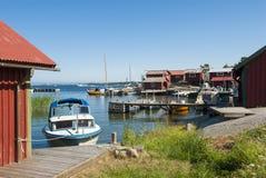 Ειδυλλιακό λιμάνι Ramsmora Σουηδία Στοκ Φωτογραφίες