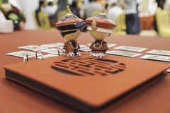 Ειδώλια στο γάμο παραδοσιακού κινέζικου Στοκ Φωτογραφία