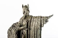 Ειδώλιο Αρχόντων των δαχτυλιδιών που παρουσιάζει σε Isildur το Argonath, βασιλιάς Gondor Στοκ φωτογραφία με δικαίωμα ελεύθερης χρήσης