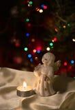 Ειδώλιο και κερί αγγέλου Στοκ φωτογραφίες με δικαίωμα ελεύθερης χρήσης