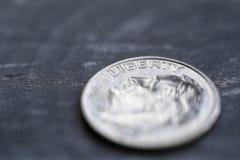 δεκάρα νομισμάτων μια Στοκ εικόνα με δικαίωμα ελεύθερης χρήσης