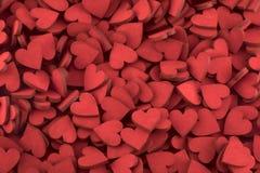 Εκατοντάδες των μικρών κόκκινων καρδιών στοκ εικόνες