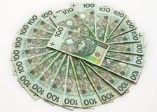 εκατοντάδες zloty Στοκ Εικόνες