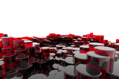Κόκκινες στήλες γυαλιού Στοκ Εικόνες