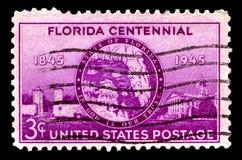 Εκατονταετές γραμματόσημο Florids Στοκ φωτογραφία με δικαίωμα ελεύθερης χρήσης
