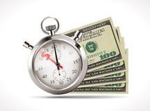 Εκατό δολάρια - έννοια Ηνωμένου νομίσματος απεικόνιση αποθεμάτων