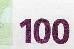 Εκατό ευρώ, πράσινο χρώμα Στοκ φωτογραφία με δικαίωμα ελεύθερης χρήσης