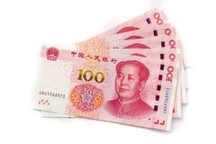 Εκατό κινεζικά τραπεζογραμμάτια Yuan στοκ εικόνα με δικαίωμα ελεύθερης χρήσης