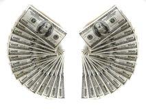 Εκατό δολάρια τιμολογούν τα αμερικανικά χρήματα μετρητών Στοκ εικόνα με δικαίωμα ελεύθερης χρήσης