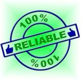 Εκατό τοις εκατό αξιόπιστος δείχνει την απόλυτη στήριξη και εντελώς διανυσματική απεικόνιση