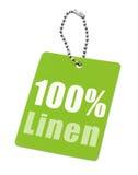 Εκατό τοις εκατό λινού Στοκ Εικόνες