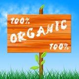 Εκατό τοις εκατό παρουσιάζουν οργανικά προϊόντα και εντελώς ελεύθερη απεικόνιση δικαιώματος