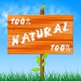 Εκατό τοις εκατό σημαίνουν οργανικό εντελώς και το περιβάλλον διανυσματική απεικόνιση