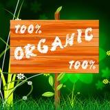 Εκατό τοις εκατό σημαίνουν τα οργανικά προϊόντα και εντελώς ελεύθερη απεικόνιση δικαιώματος